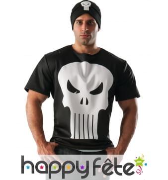 Bonnet et T-shirt du Punisher pour homme