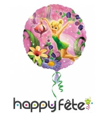 Ballon Fée Clochette rond de 43 cm