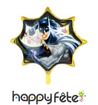 Ballon géant Batman en forme d'étoile, 71 cm