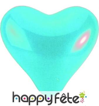 Ballon géant en forme de coeur bleu