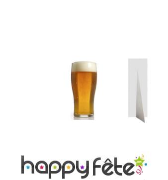 Bière géante en carton plat, 182cm