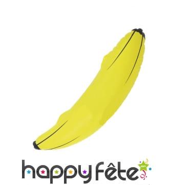 Banane gonflable jaune