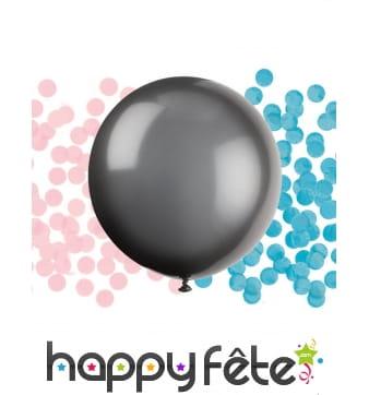 Ballon géant noir de baby shower, fille ou garcon
