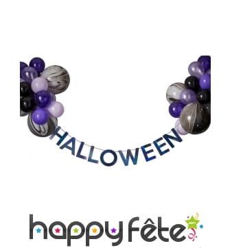 Ballons guirlande noir violet Halloween