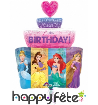 Ballon gâteau Princesses Disney de 71cm