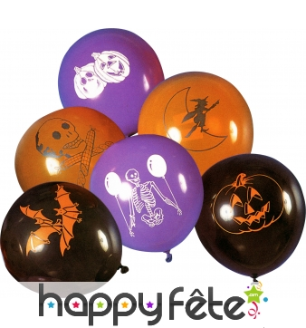 Ballons halloween assorti