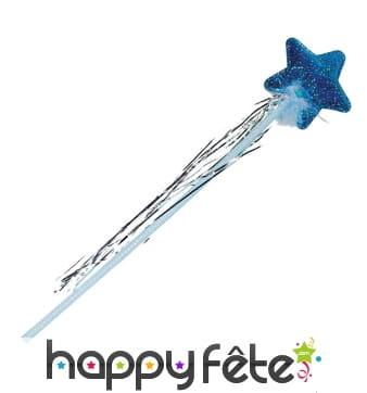 Baguette holographique bleue avec étoile