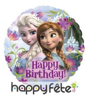 Ballon Happy Birthday XL, La Reine des Neiges