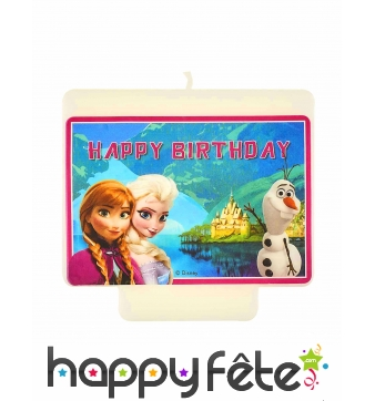 Bougie Happy Birthday La reine des neiges 9X7 cm