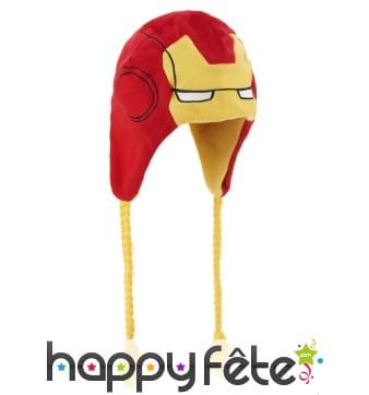 Bonnet haut de tête Iron Man