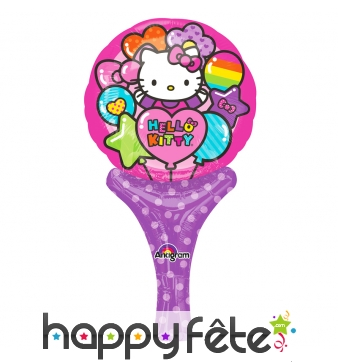 Ballon hello kitty de 15 x 30cm