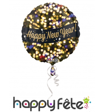 Ballon Happy New Year en aluminium 43cm