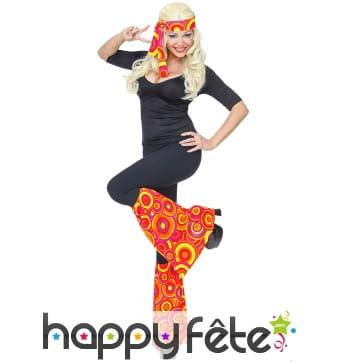 Bandeau hippie rouge avec paire de jambières