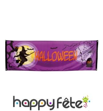 Banderole Halloween sorcière de 2.2m