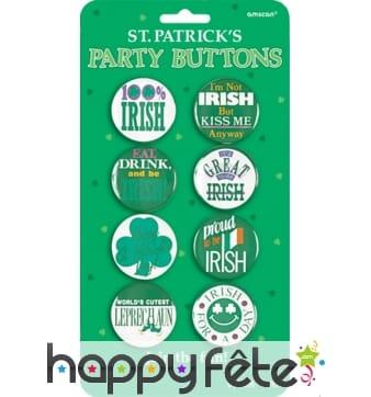 Badges Irlandais humoristiques, Saint-Patrick