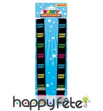 Bretelles imprimé Joyeux anniversaire multicolore