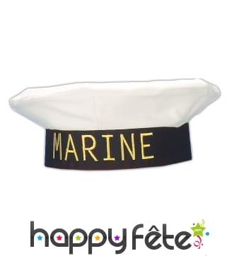 """Beret imprimé """"marine"""""""