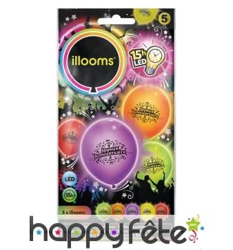 Ballons joyeux anniversaire lumineux