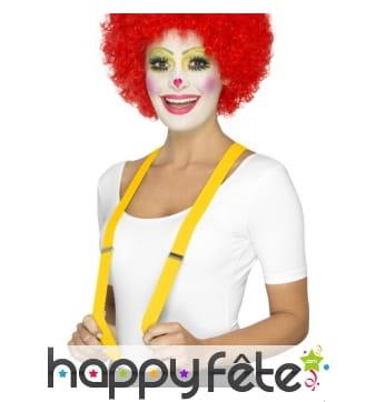 Bretelles jaunes de clown