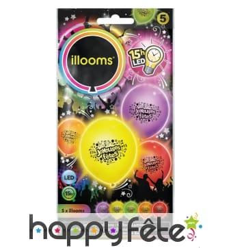 Ballons joyeuses fêtes lumineux