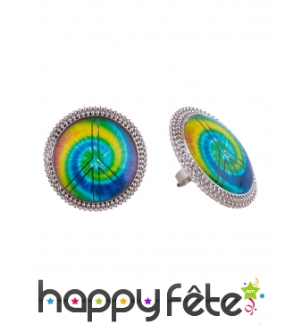 Bague Love and Peace multicolore adulte