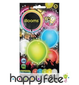 Ballons lumineux colorés