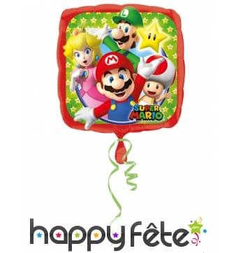 Ballon Mario Bros carré de 43cm