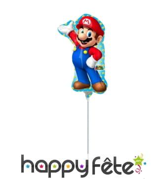 Ballon Mario Bross sur tige