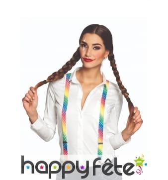 Bretelles multicolores de cirque pour adulte