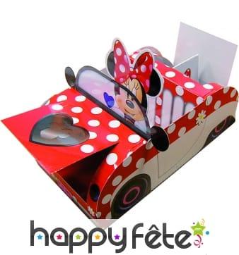 Boite Minnie en forme de voiture