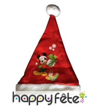 Bonnet Mickey Noël rouge pour enfant