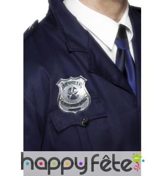 Badge métal policier