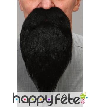 Barbe noire avec moustaches luxe