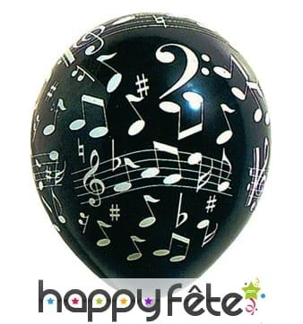 Ballons notes de musique
