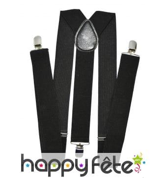 Bretelles noires de 3,5 c 160 cm