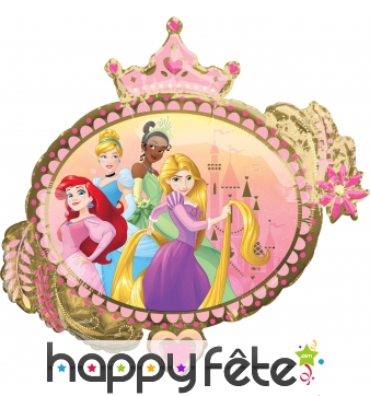 Ballon ovale Princesses Disney recto verso, 81 cm