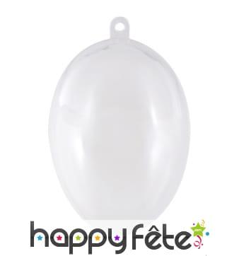 Boulle oeuf transparent à remplir, pvc