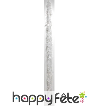 Boa plume autruche blanc 183 cm
