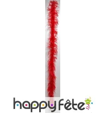 Boa plume autruche rouge 183 cm