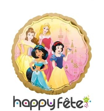Ballon Princesses Disney rond recto verso de 43 cm