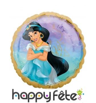 Ballon Princesse Jasmine rond en aluminium, 43 cm