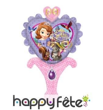Ballon princesse Sofia coeur de 15 X 30cm