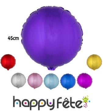 Ballon rond aluminium de 45cm