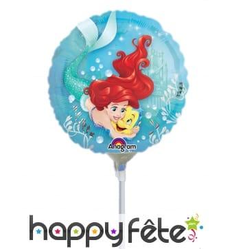Ballon rond de Ariel en alu, 23cm