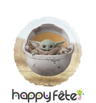 Ballon rond de bébé Yoda, 43cm