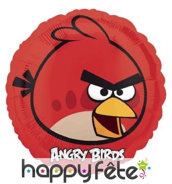 Ballon rond de Red en aluminium, Angry Birds