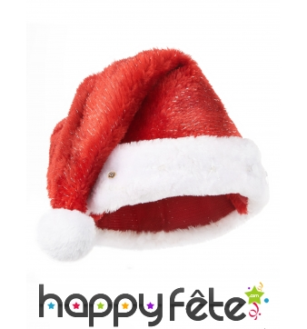 Bonnet rouge de Père Noël étoiles lumineuses