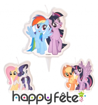 Bougie Rainbow Dash et Twilight Sparkle, 6,5 cm