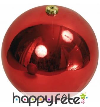 Boule rouge de Noel de 10cm, brillante