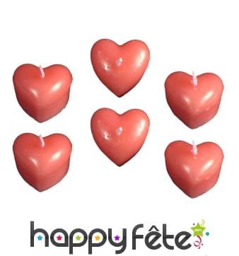 Bougies rouges en forme de coeur